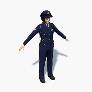 japanese woman 0002 3D model