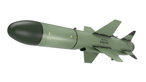 anti-ship missile russian subsonic 3D