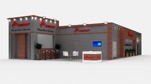 3D model booth exhibit expo