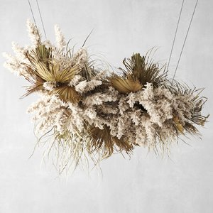 3D decor pampas grass dried