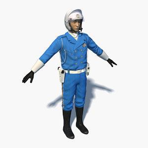 3D japanese traffic police 0003 model