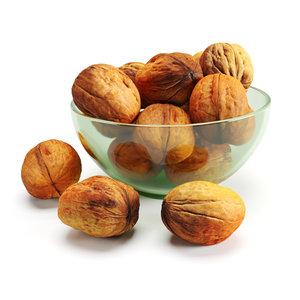 3D walnuts glass vase model