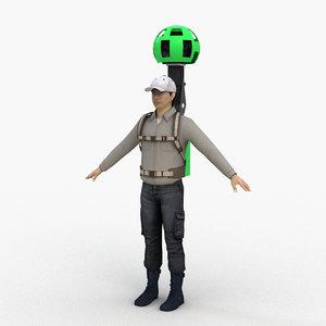 google street view camera 3D model
