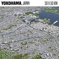 Yokohama Japan 50x50km