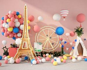 display balloon 3D