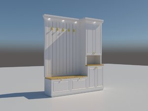 hall tree 3D model