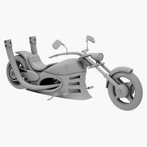3D chopper motorcycle vehicle