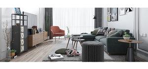 living room simple 3D model
