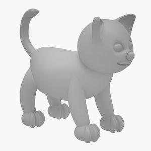 3D model cat sculpt