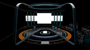 tv competition studio 3D model