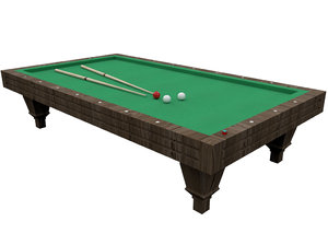 3D model billiard pool