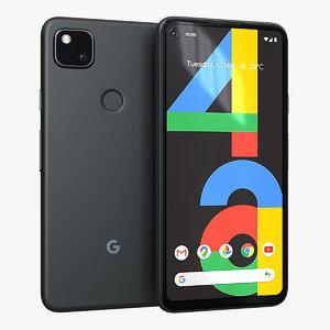 google pixel 4a just 3D