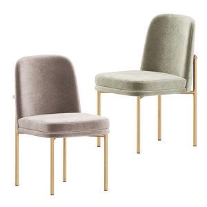 jack metal frame dining chair 3D model