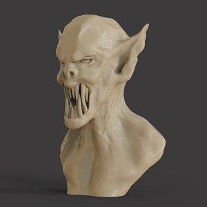 3D dracula bust model