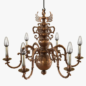 3D classical chandelier hanging