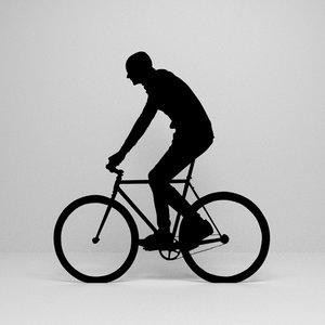 cycling silhouette 3D