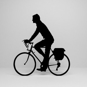 3D cycling silhouette model