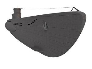u-boat boat 3D