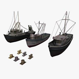 3D model fishingboat boat