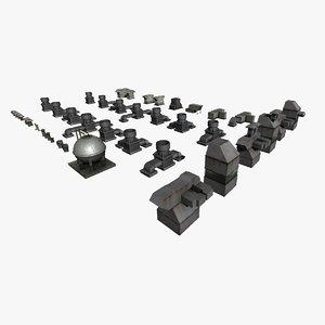3D rooftop ventilation props