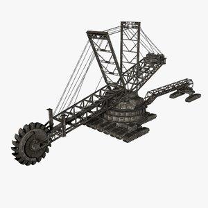 bucketwheel excavator 3D model