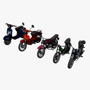 3D small motorbikes