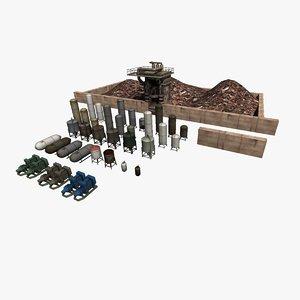 industrial props model