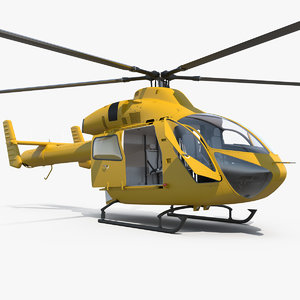 3D light twin utility helicopter