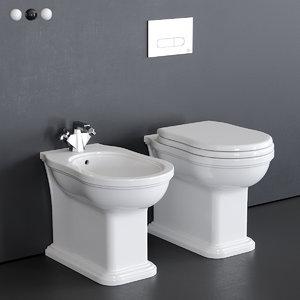 efi toilet bidet 3D model