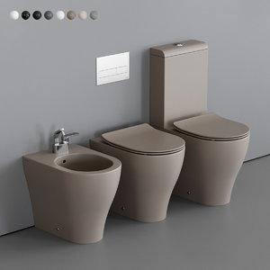 3D model app toilet bidet