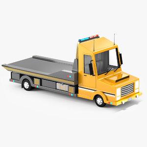 tow truck cartoon 3D model