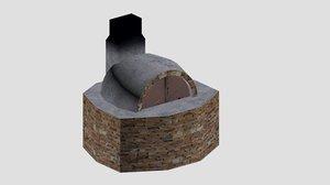 village stove 3D model