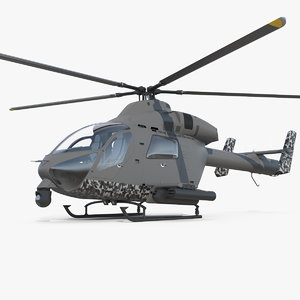 3D attack helicopter copter
