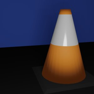low-poly traffic cone 3D