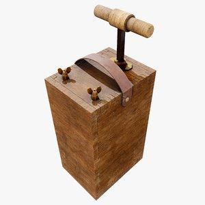 pbr detonator 3D model