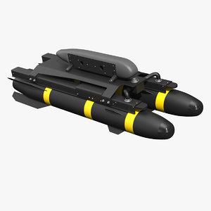 rocket pods 3D model