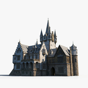 3D european mansion