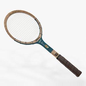 tennis racquet wilson maureen 3D