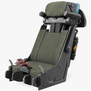 jet fighter seat 3D model