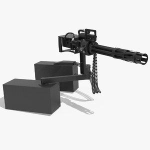 barrel gatling gun 3D