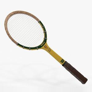 3D tennis racquet wilson bobby model