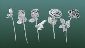 3D printable rose flowers model