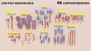 pack medieval weapons 3D
