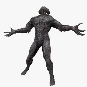 demon rigged 3D model