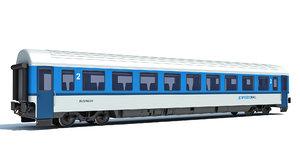 train passenger car 3D