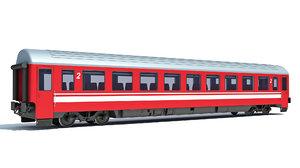 3D model train passenger car
