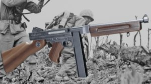 3D thompson gun ww2 weapon