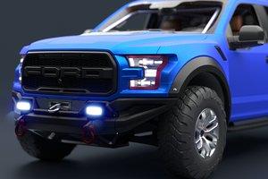 3D f-150 raptor 2017 racing model
