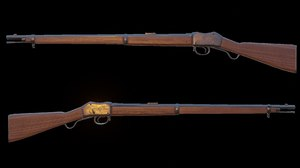 martini henry rifle 3D