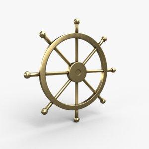 boat steering wheel 3D model